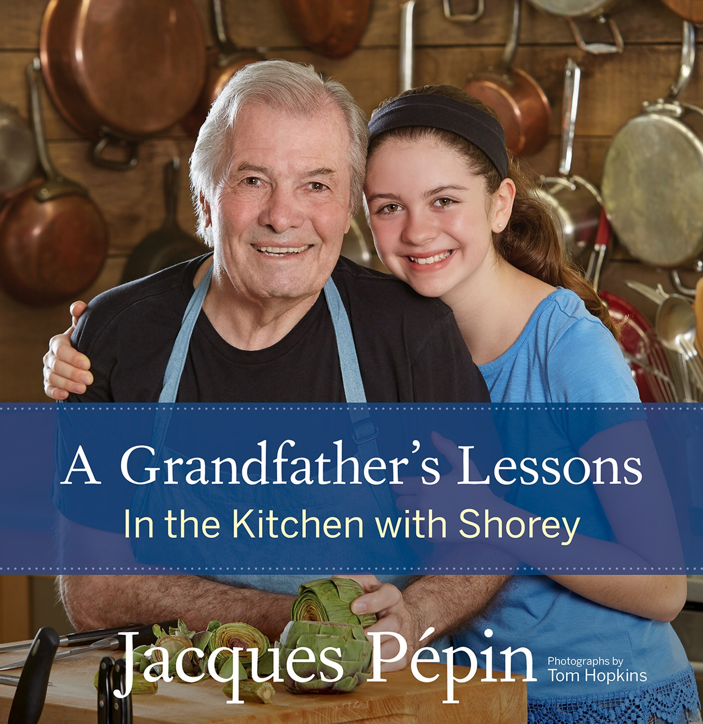 jacque pepin and granddaughter
